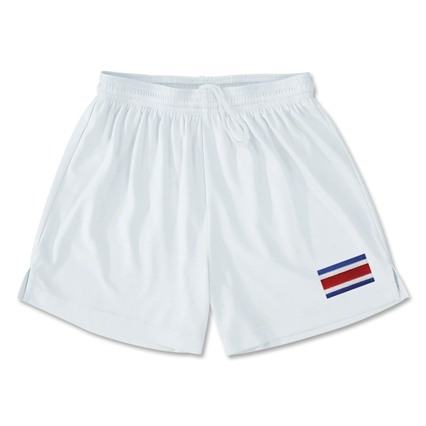 Costa Rica Team Soccer Shorts (White)