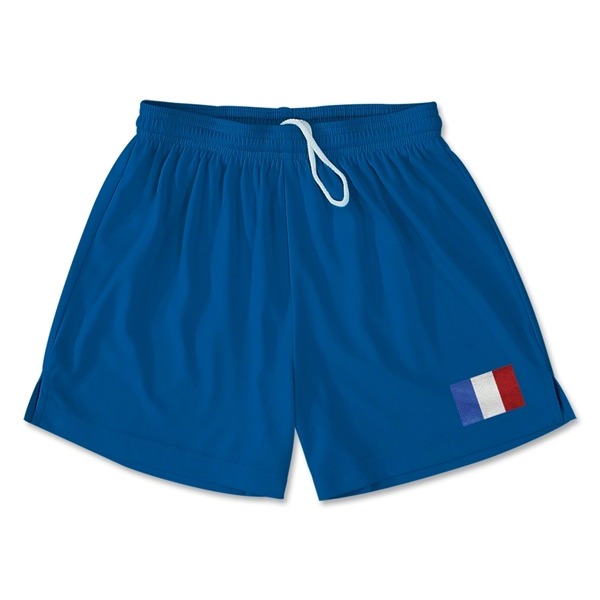 France Team Soccer Shorts (Royal)