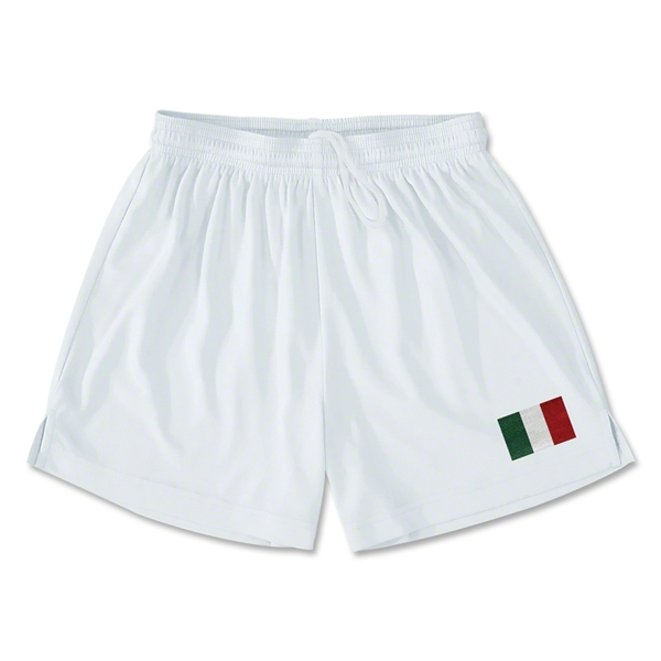 Italy Team Soccer Shorts (White)