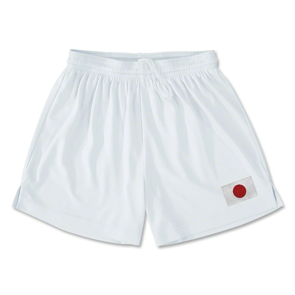 Japan Team Soccer Shorts (White)
