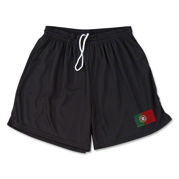 Portugal Team Soccer Shorts (Black)
