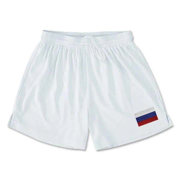 Russia Team Soccer Shorts (White)