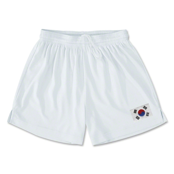 South Korea Team Soccer Shorts (White)