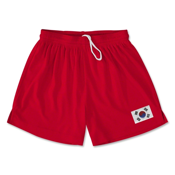 South Korea Team Soccer Shorts (Red)
