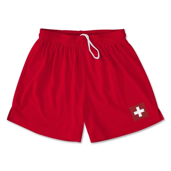Switzerland Team Soccer Shorts (Red)