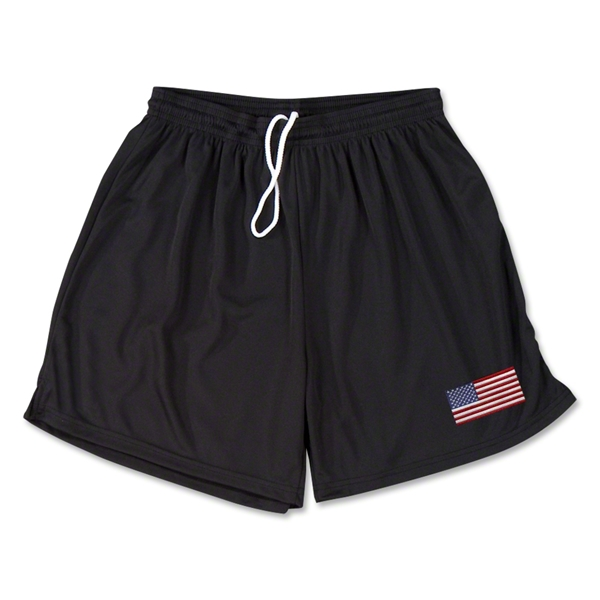 USA Team Soccer Shorts (Black)