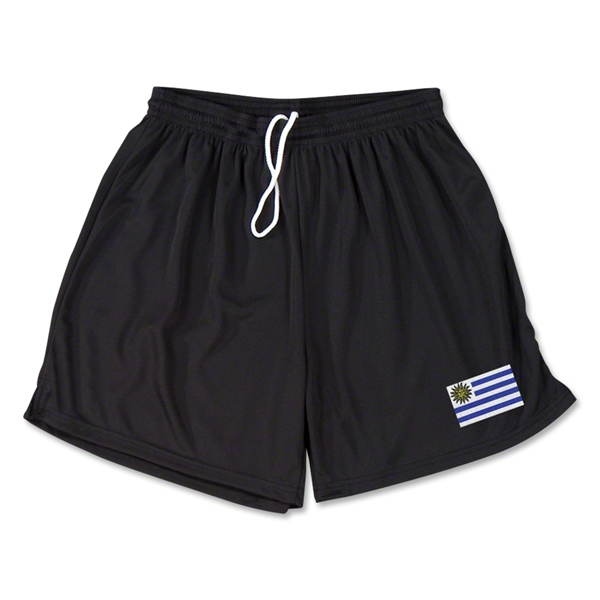 Uruguay Team Soccer Shorts (Black)