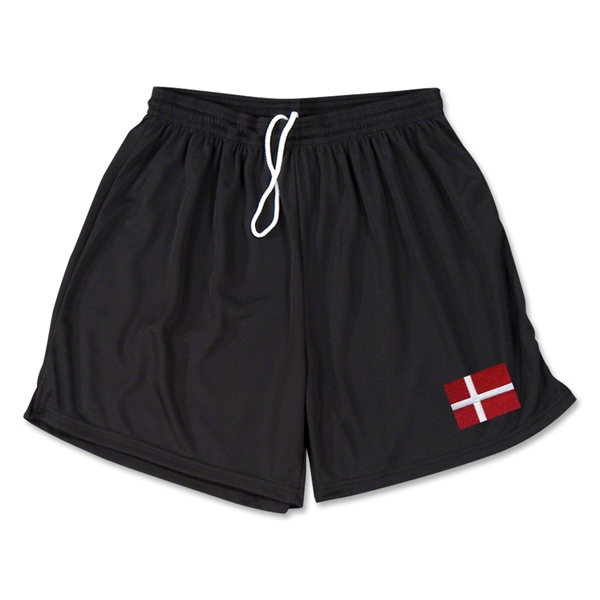 Denmark Team Soccer Shorts (Black)
