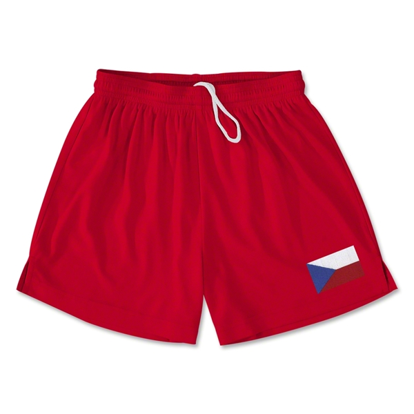 Czech Republic Team Soccer Shorts (Red)