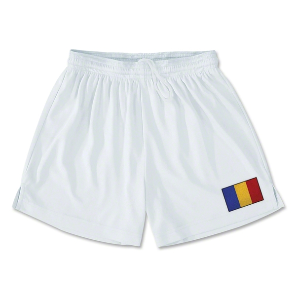 Romania Team Soccer Shorts (White)