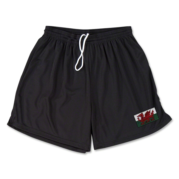 Wales Team Soccer Shorts (Black)
