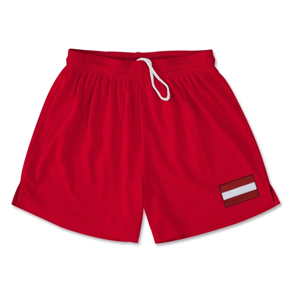 Austria Team Soccer Shorts (Red)