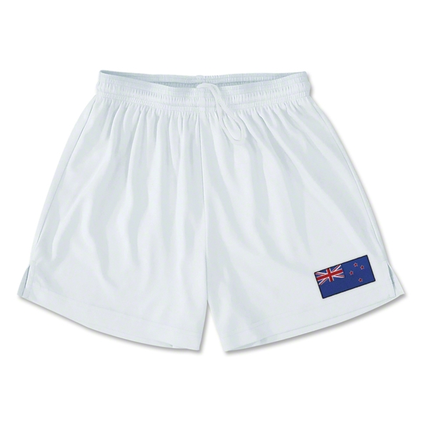 New Zealand Team Soccer Shorts (White)