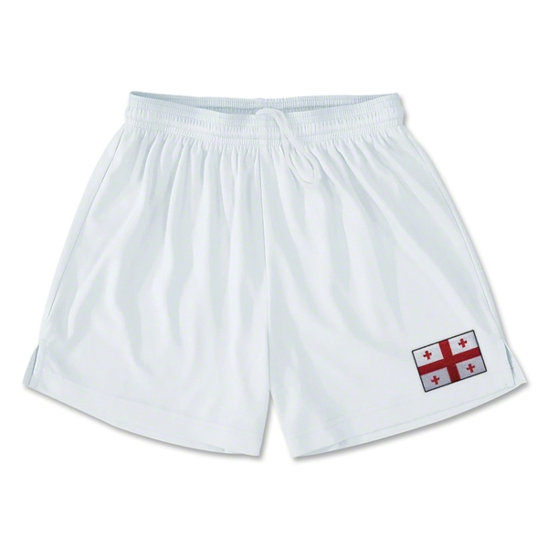 Georgia Team Soccer Shorts (White)