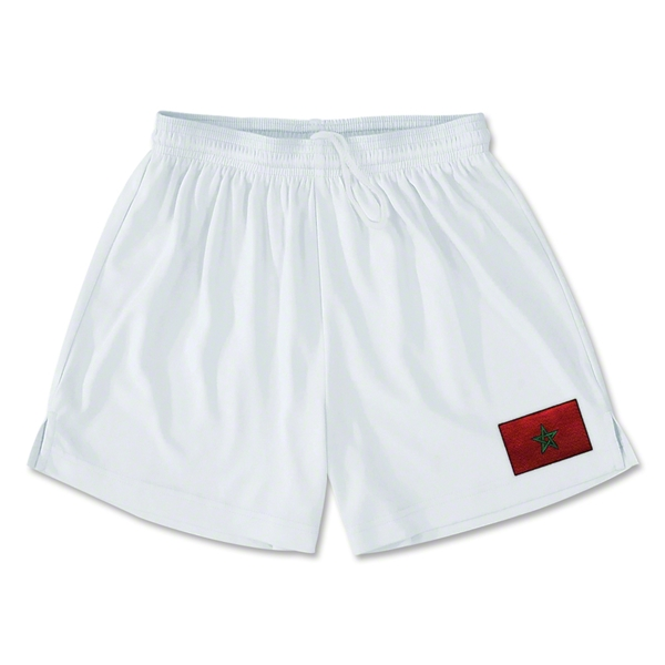 Morocco Team Soccer Shorts (White)
