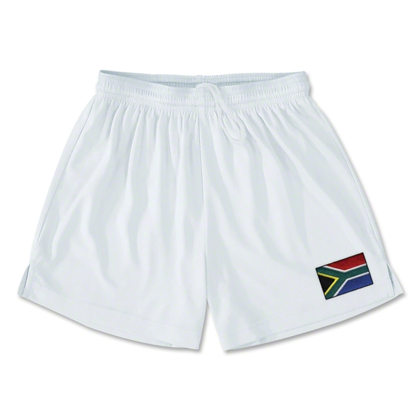 South Africa Team Soccer Shorts (White)