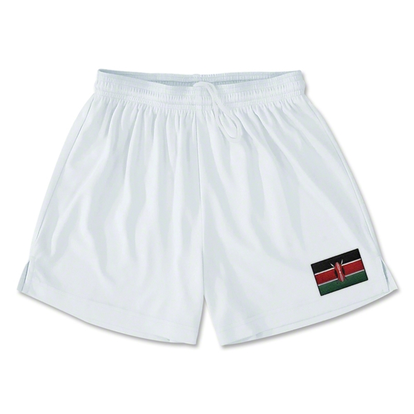 Kenya Team Soccer Shorts (White)
