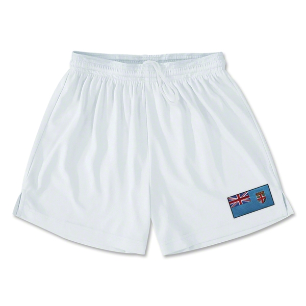 Fiji Team Soccer Shorts (White)