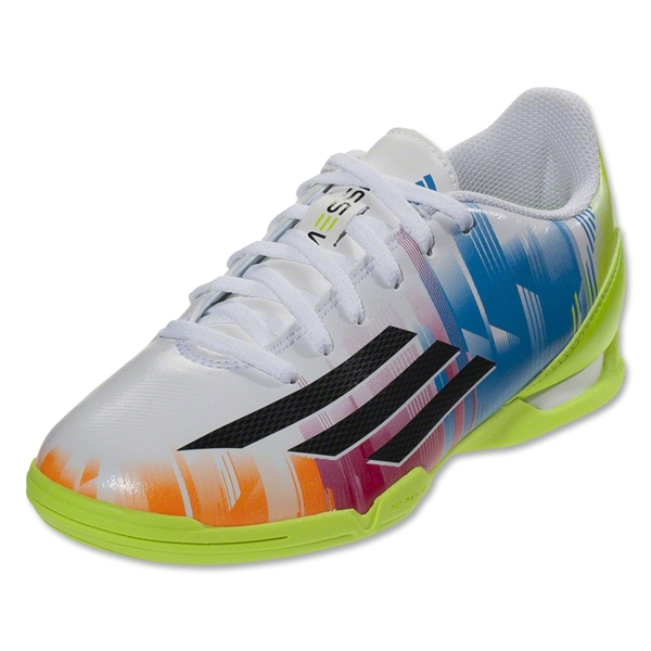 adidas F10 Indoor Junior Messi (White/Black)