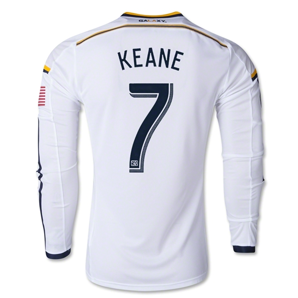 LA Galaxy 2014 KEANE LS Authentic Primary Soccer Jersey