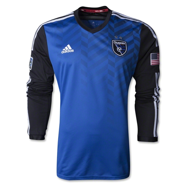 San Jose Earthquakes 2014 LS Authentic Primary Soccer Jersey