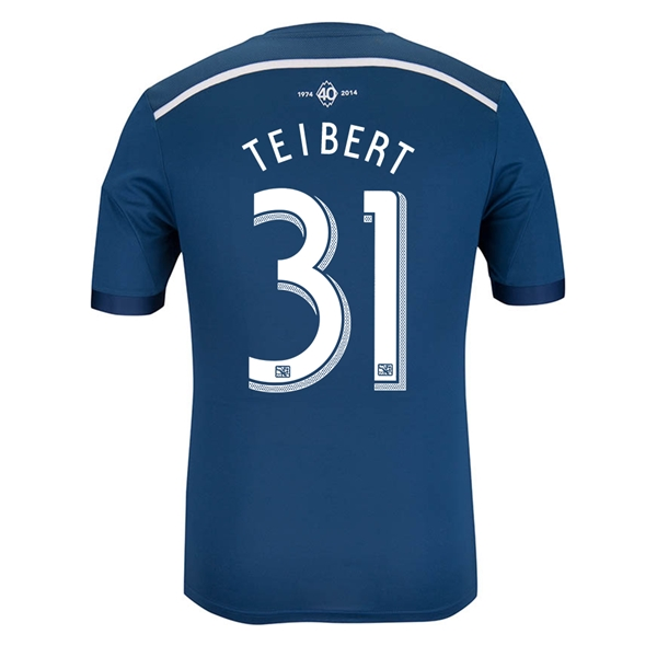 Vancouver Whitecaps 2014 TEIBERT Authentic Secondary Soccer Jersey
