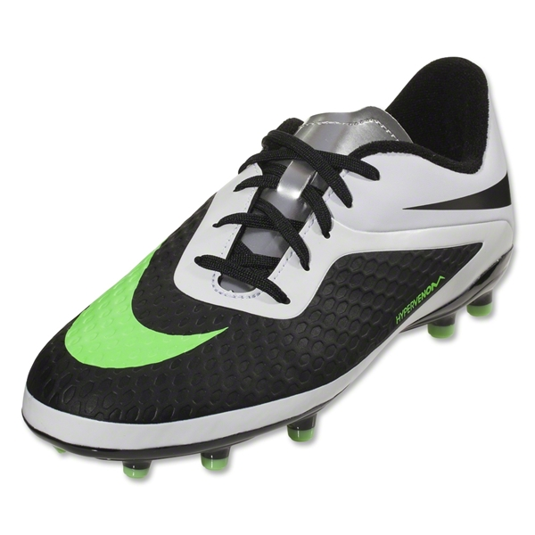 Nike Junior Hypervenom Phelon FG (Black/Neo Lime)