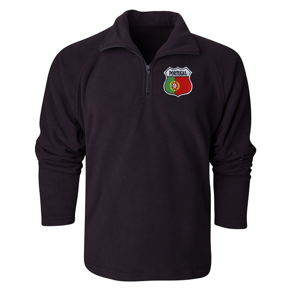 Portugal Flag Crest 1/4 Fleece Pullover