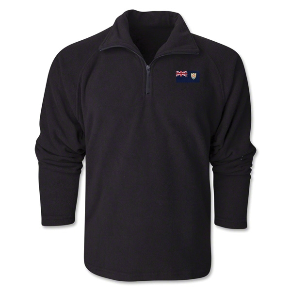 Anguilla Flag 1/4 Fleece Pullover