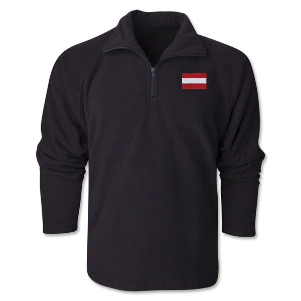 Austria Flag 1/4 Fleece Pullover