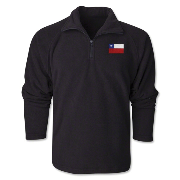 Chile Flag 1/4 Fleece Pullover
