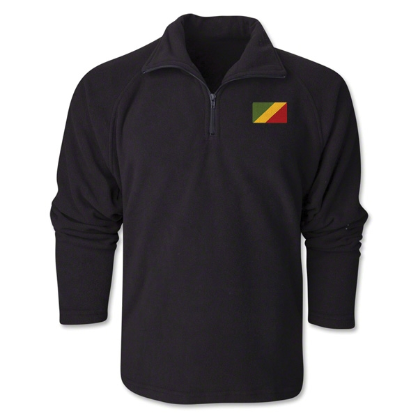 Congo Flag 1/4 Fleece Pullover
