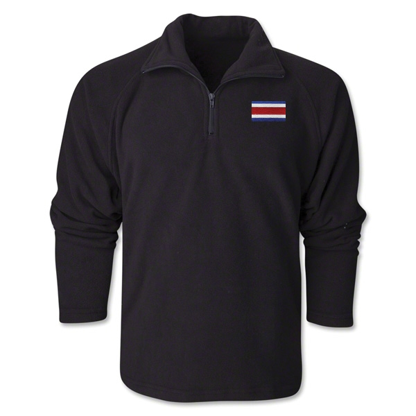 Costa Rica Flag 1/4 Fleece Pullover