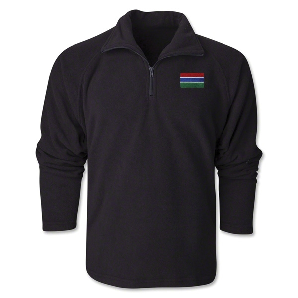 Gambia Flag 1/4 Fleece Pullover