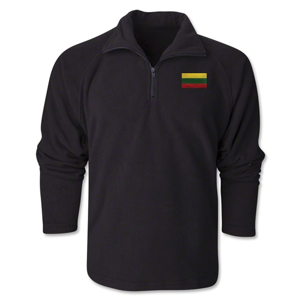 Lithuania Flag 1/4 Fleece Pullover