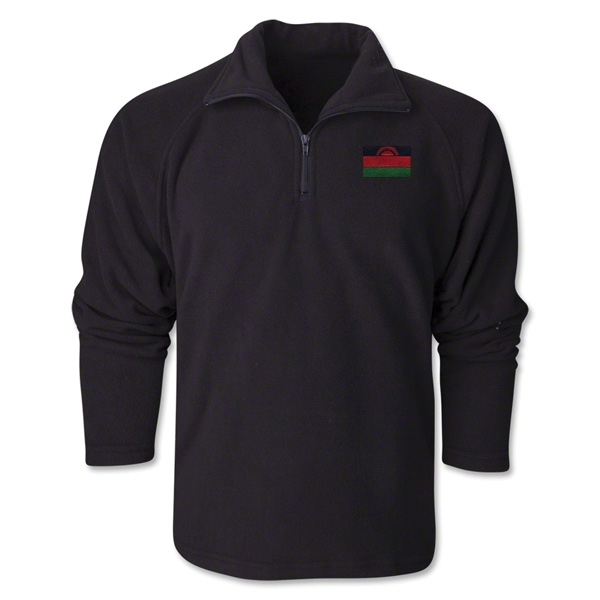 Malawi Flag 1/4 Fleece Pullover