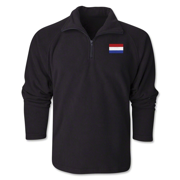 Netherlands Flag 1/4 Fleece Pullover