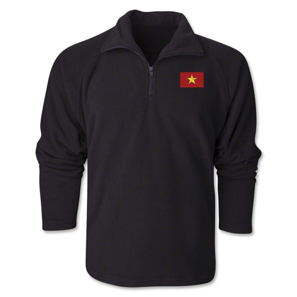 Vietnam Flag 1/4 Fleece Pullover
