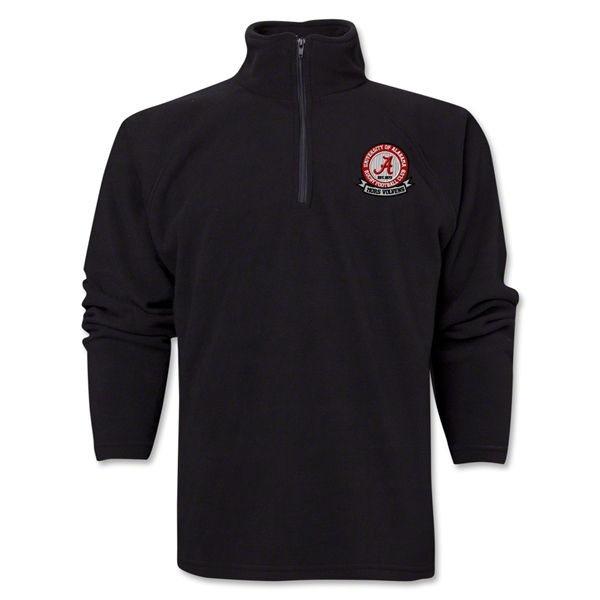 University of Alabama Rugby 1/4 Zip Fleece Jacket