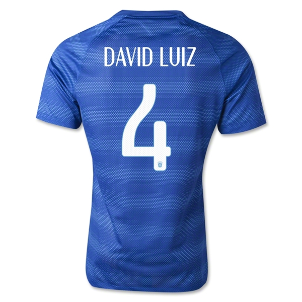 Brazil 14/15 DAVID LUIZ Authentic Away Soccer Jersey