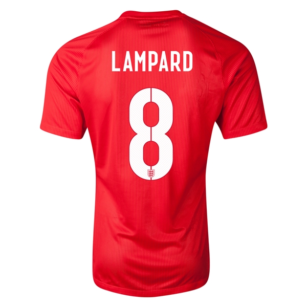 England 14/15 LAMPARD Authentic Away Soccer Jersey