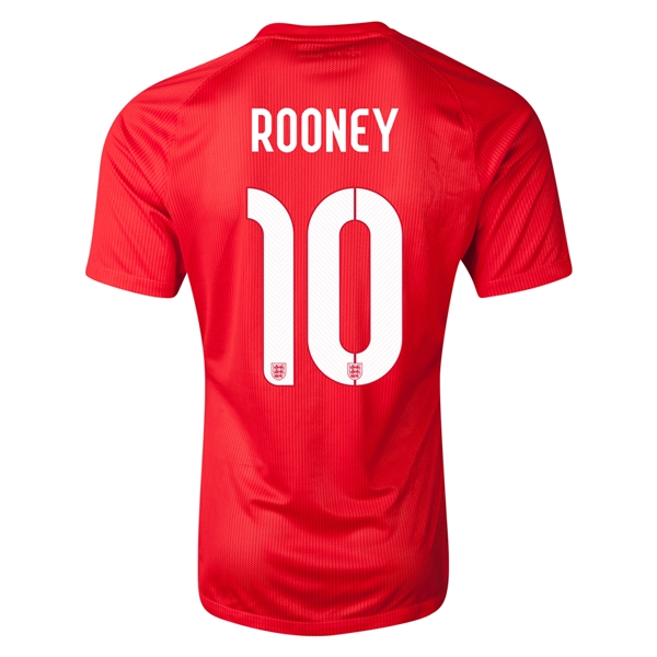 England 14/15 ROONEY Authentic Away Soccer Jersey