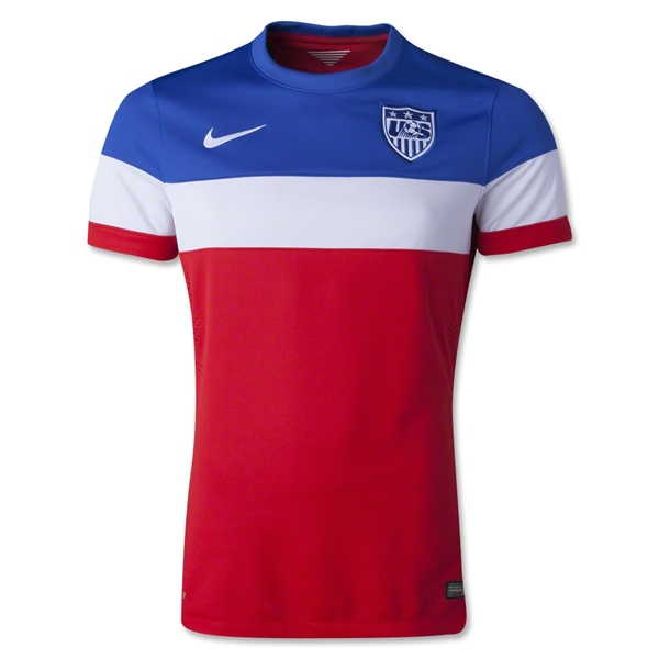 USA 14/15 Authentic Away Soccer Jersey