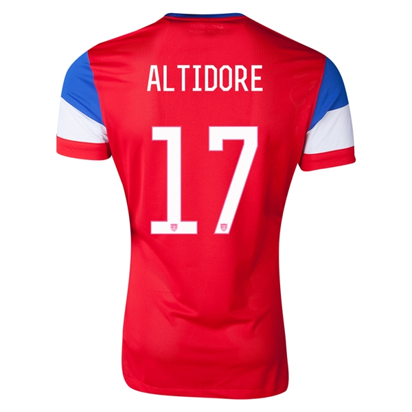 USA 2014 ALTIDORE Authentic Away Soccer Jersey