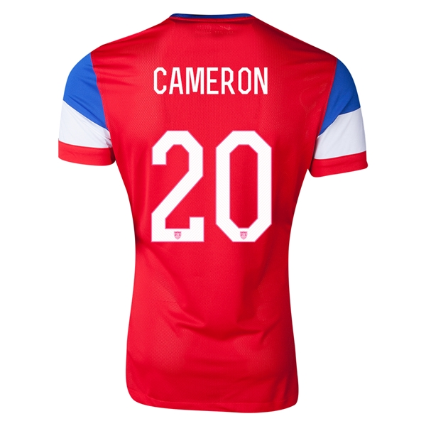USA 2014 CAMERON Authentic Away Soccer Jersey