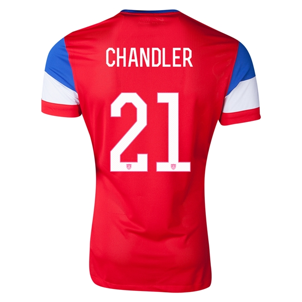 USA 2014 CHANDLER Authentic Away Soccer Jersey