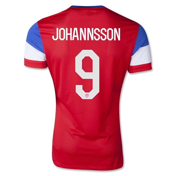 USA 2014 JOHANNSSON Away Soccer Jersey