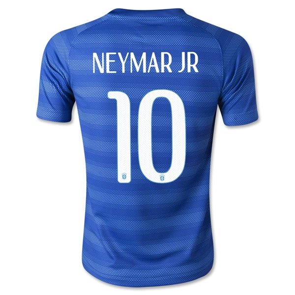 Brazil 14/15 NEYMAR JR Youth Away Soccer Jersey