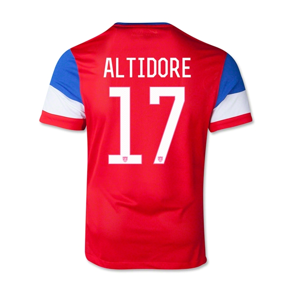 USA 2014 ALTIDORE Youth Away Soccer Jersey