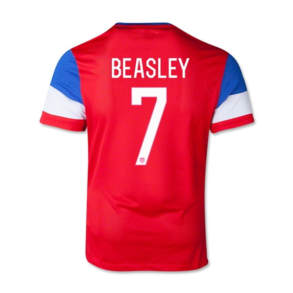 USA 2014 BEASLEY Youth Away Soccer Jersey